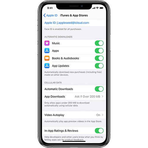 App Updated deaktivieren