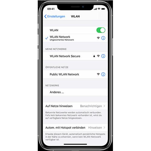 Verwenden Sie das Wlan und nicht die mobilen Daten